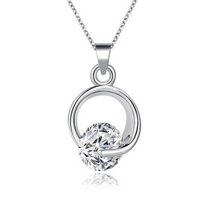 Jewelry - Austrian CZ Silver Circle Of Trust Necklace NWT